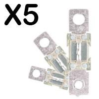 Lot de x5 fusibles 40A,60A,80A,100A,125A,150A,175A,200A,225A,250A,300A,350A,400A,450A,500A
