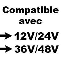 Fusible compatible avec système 12v, 24v, 36v, 48v