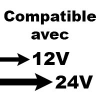 Fusible compatible avec système 12v, 24v